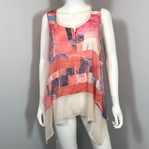 Simply Vera Vera Wang Tank-Top Blouse. Size Large